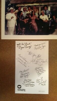 DUKES OF HAZZARD Full Cast Color Warner Brothers 1983 Signed Photo Signatures