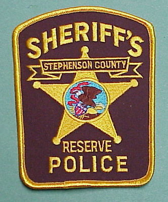 Stephenson County  Illinois  Il  Reserve  Sheriff /  Police Patch  Free Shipping