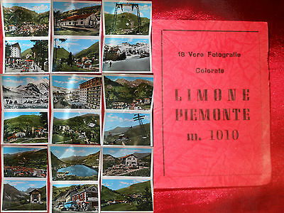 Limone Piemonte 18 Vere Foto Colorate - Vintage View Booklet Of Italy