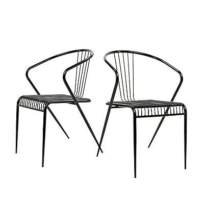 Incredible Set Of 2 Mid Century Modern Wire Chair Replic Side Chair Creativecarmelina Interior Chair Design Creativecarmelinacom