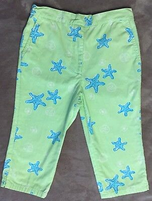Little Girls Lilly Pulitzer Starfish Crop Pants Size 5