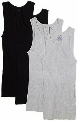 Fruit of the Loom Men's A-Shirts 4-Pack Tanks Size 3XL Black/Gray or Assorted