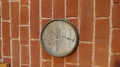 antique british colonial fire insurance company thermometer