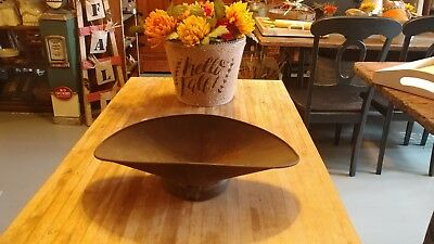 Antique Tin Country Store Beam Scale Scoop Tray Pan Candy Grain Produce