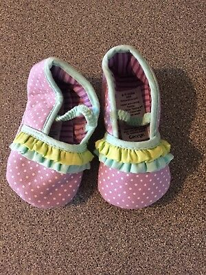 Baby Girl Shoes Age 6-9 Months Purple Spotty Summer George