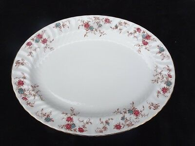 "Minton Bone China ""ancestral"" 16"" Oval Serving Platter ~ Mint Condition"