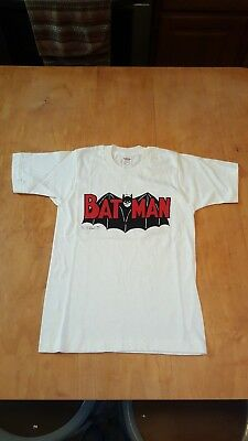 Original 1966 Child's Batman TV Series T-Shirt Adam West DC Comics Joker Riddler
