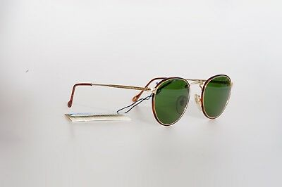 Occhiali vintage PERSOL RATTI Ross Gold Plated Sunglassesed New Gold Lunette New
