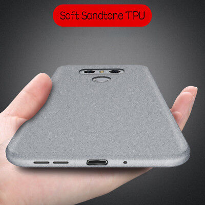 For LG V30 Q6 Q8 G7 Thin Shockproof Matte Silicone Soft Rubber TPU Case Cover G6