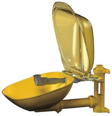 BRADLEY S19224PDC Halo Wall-Mounted Eyewash Station with Plastic Bowl in Yellow