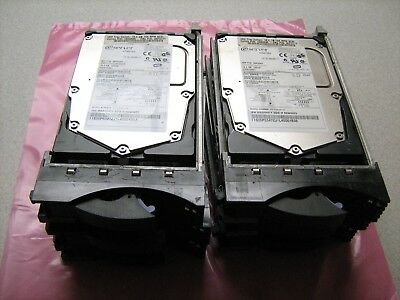 Lot of 6 IBM 18.2GB 15K RPM SCSI Hard Drive with Caddy Tray ST318452LC