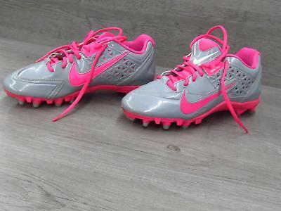 Nike Speedlax 4 Dual Pull Lacrosse Gray And Pink Cleats Womens Size 9.5