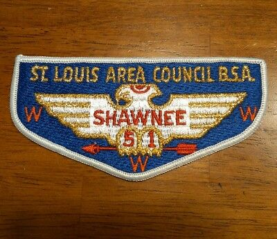BSA Order of the Arrow Patche ST LOUIS AREA COUNCIL BSA SHAWNEE WWW 51 Brand New