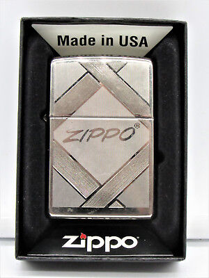 Zippo 20969, Unparalleled Tradition, Black Ice Chrome Finish Lighter, Full Size
