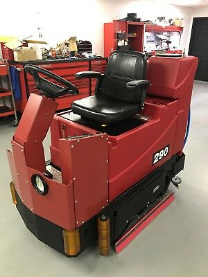 Factory Cat 290 Cylindrical Rider Scrubber Refurbished