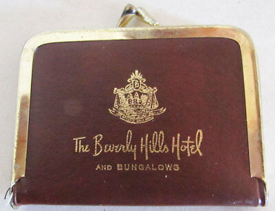 Vintage BEVERLY HILLS HOTEL & BUNGALOWS Leather Sewing Kit / Purse - Complete