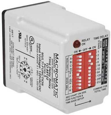 MACROMATIC TD-88168 Time Delay Relay,24VAC/DC,10A,SPDT