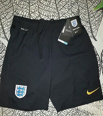 Men's Nike England black/yellow dri fit gym train Shorts Football Soccer size s