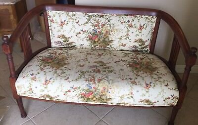Antique Upholstered Bench/Settee  Excellent Condition