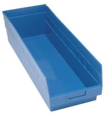 "Blue Shelf Bin, 23-5/8""L x 8-3/8""W x 8""H QUANTUM STORAGE SYSTEMS QSB814BL"