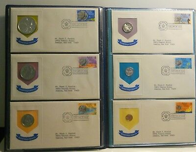 1973 British Virgin Islands First Day Of Issue Cachets Proof Coin & Stamp Folio