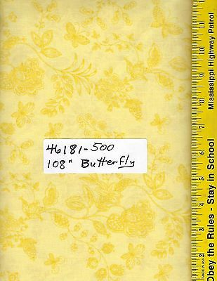 """46393-101 108/"""" EXTRA WIDE QUILT BACKING BTY OVERTONE ROSE BOUQUET BRIGHT PINK"""