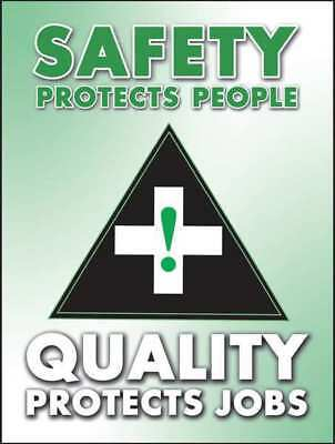 Poster,Safety Protects People,18 x 24 ACCUFORM PST116