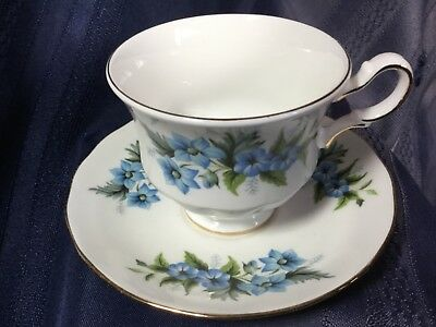 Queen Anne Bone China Pedestal Cup And Saucer England