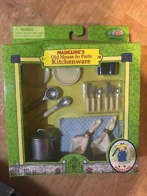 Madeline's Old House In Paris Kitchen Accessory Set Brand New