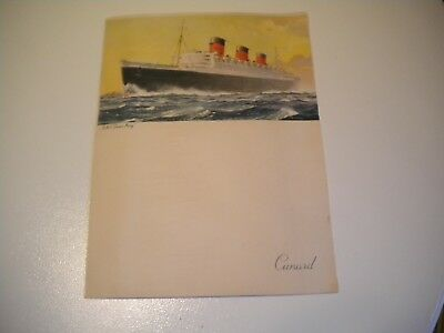 Rms Queen Mary Rms Cunard Line Royal Gala Dinner Menu Sat. June 28, 1958