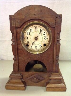 Vintage Antique Sessions Clock Co Wind Up Mantle Cathedral Church Kitchen Clock