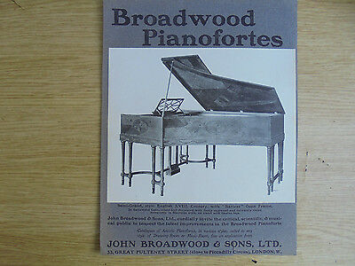 1903 adver,broadwood pianofortes,semi-grand,barless open frame,xviii c.english