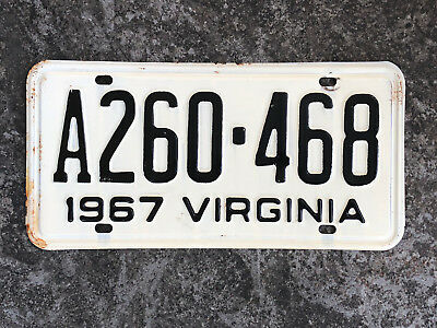 1967 Virginia License Plate #A260-468 SAME DAY SHIPPING