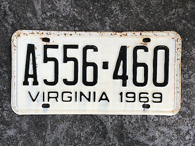 1969 Virginia License Plate #A556-460 SAME DAY SHIPPING