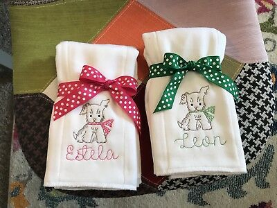 Personalized Embroidered Custom  Baby Burp Cloth Diaper