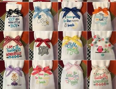 Personalized Embroidered Custom  Baby Burp Cloth