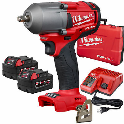 "Milwaukee 2852-22 M18 FUEL 3/8"" Mid-Torque Impact Wrench Friction Ring Kit New"