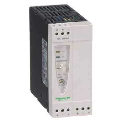 SCHNEIDER ELECTRIC ABL8REM24050 DC Power Supply,24VDC,5A,50/60Hz