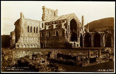 Old Melrose Abbey Nave & Cloister  5 H M Office Of Work Unposted