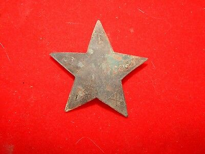Texas Confederate Civil War Hat Star For Slouch Hat Dug Excellent