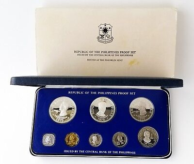 Philippines 1975 Proof Set of 8 Coins; Leaders, Marcos, Rizal [3809.03]