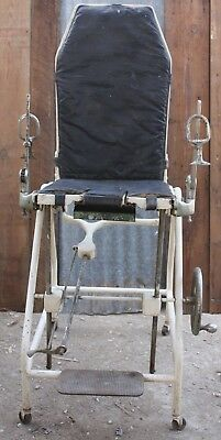 Antique 1920's-1940's OBGYN Medical Examination Chair