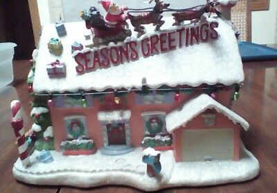 The Simpsons Christmas Village Flander's house 2003