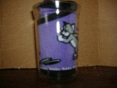 Vintage CollectibleTom & Jerry 1990 Welch's Jelly Glass Jar (Tom Rollerskating