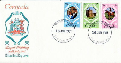 1981 Grenada. Royal Wedding of Prince Charles and Lady Diana. First Day Cover