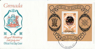 1981 Grenada M/S. Royal Wedding of Prince Charles & Lady Diana. First Day Cover