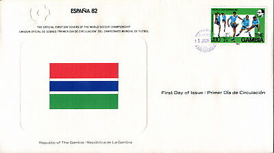 1982 Gambia. Football World Cup First Day Cover. Royal Spain Football Federation