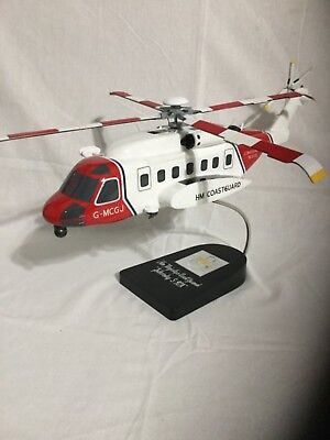 "Sikorsky S-92A ""Her Majesty's Coast Guard Rescue, scale model helicopter"