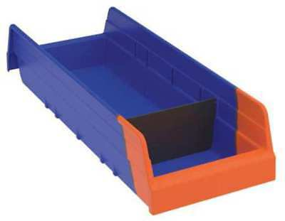 "Blue/Orange Shelf Bin, 17-7/8""L x 6-5/8""W x 4""H AKRO-MILS 36468BLUE"