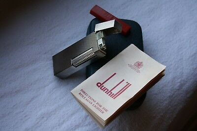 __Dunhill Rollagas 1971 Barley Silver__Top lid engraved__Box&Papers__New, MIB__